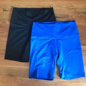 2 pairs of Aerie bike shorts - Women's Size Large